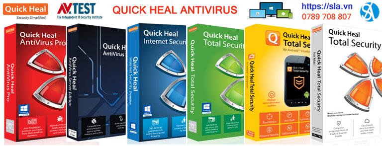 Phần mềm antivirus Quick Heal cho PC, laptop, điện thoại, tablet